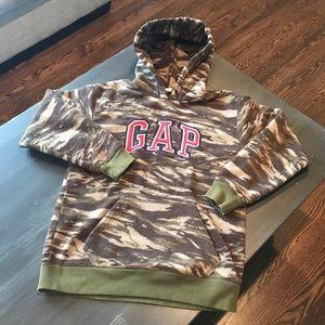GAP Camo fleece hoodie XXL